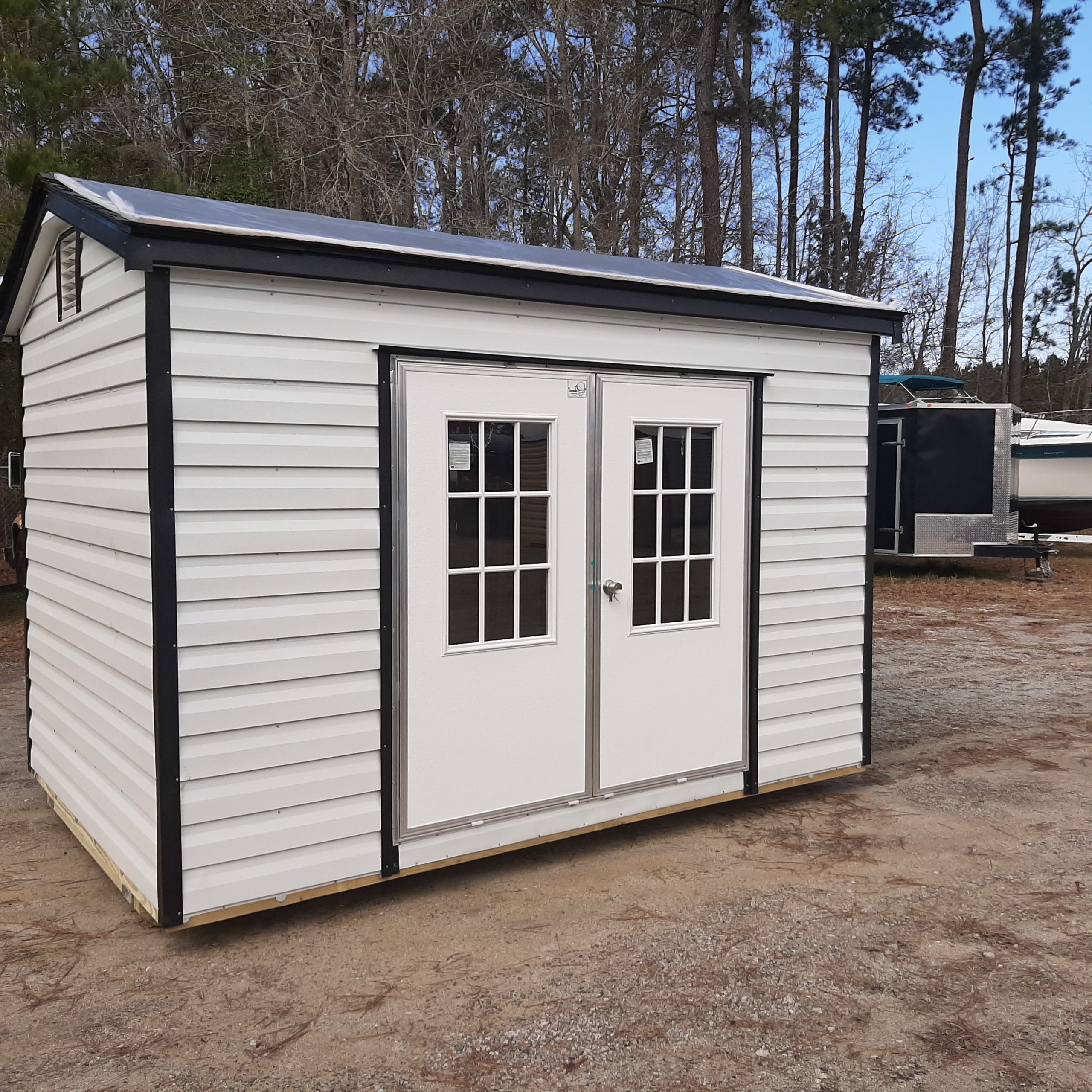 Myrtle 8 X 12 Metal Sided Shed With Shingles